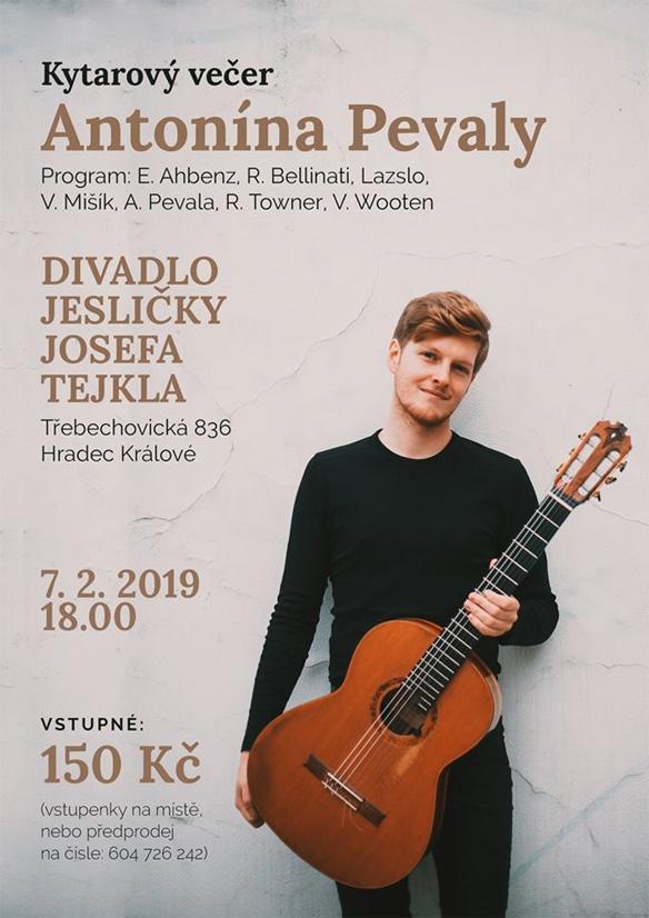 7.2.2019 Kytarový večer Antonína Pevaly