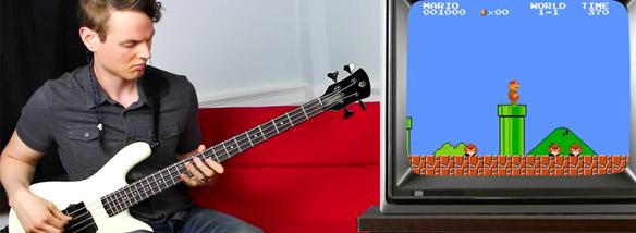 Super Mario a basová kytara